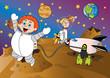 kosmos ilustracja dla dzieci - 66344496