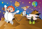 kosmos ilustracja dla dzieci