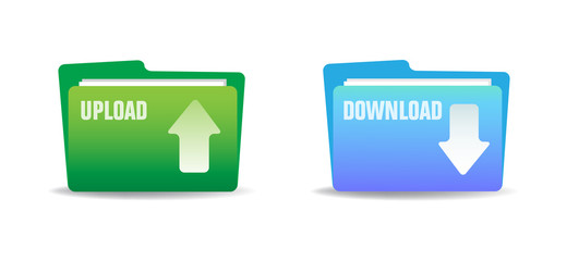 Upload and download folders