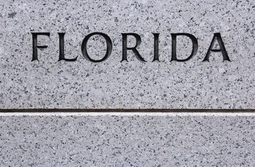 Florida - stone engraving sign