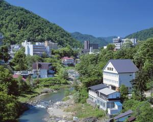 Hot spring resort, Sapporo, Hokkaido, Japan