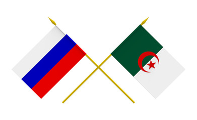 Flags, Algeria and Russia