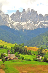 Amazing landscape in italian Alps