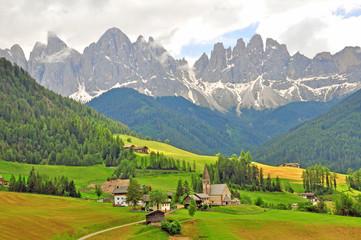 Funes, Bolzano. Amazing landscape in Dolomites