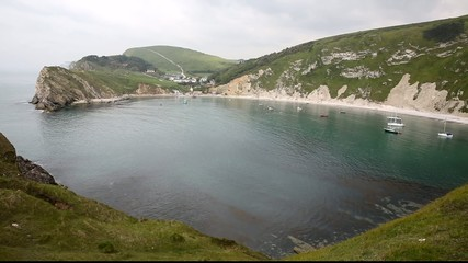 Tourist attraction Lulworth Cove Dorset