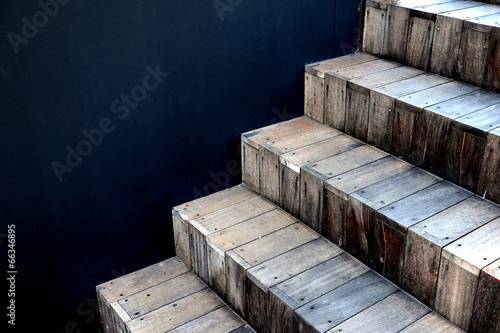 Abstract stairs in interior