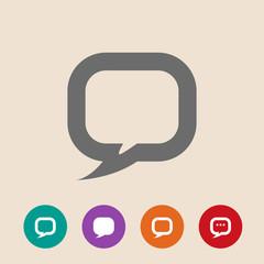Flat icon of dialog