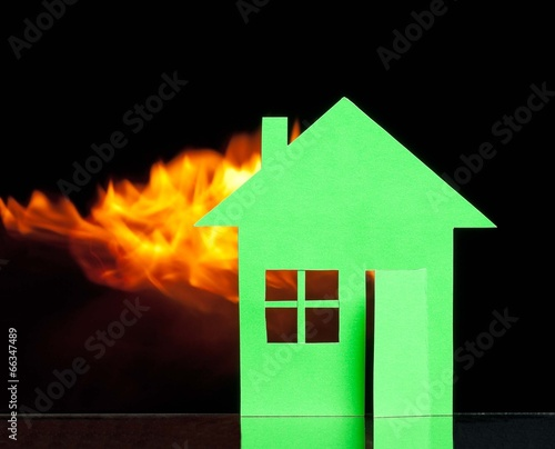 House in a fire - 66347489