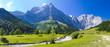 Leinwanddruck Bild - Panorama Landschaft in Bayern