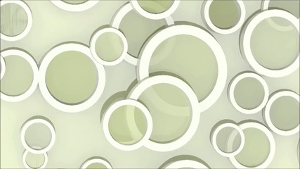 background with colored objects, 3d animation loop slow version