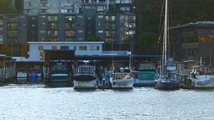 Boat Ride Passing Marina