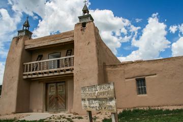 San Jose de Gracia Church in Las Trampas, New Mexico