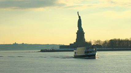 Boat Ride Statue of Liberty Sequence