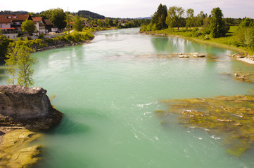 Fluss Lech in Bayern bei Lechbruck