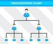 Постер, плакат: Organization chart template