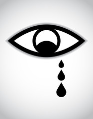 special sad eye icon