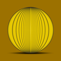 Abstract oval yellow background