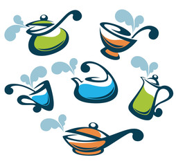 colorful vector collection of cooking equipment