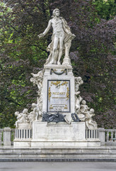 Monument of Mozart in Vienna