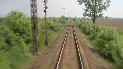 Single-line railroad
