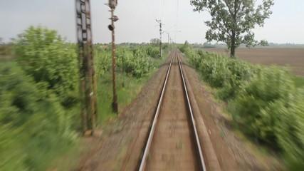 Single-line railroad