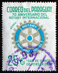 Postage stamp Paraguay 1976 Rotary International Symbol
