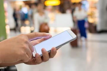 Using smartphone
