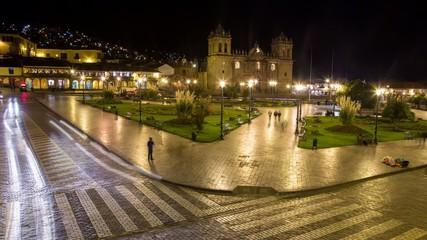 Cusco Zeitraffer (Stadtmitte / Verkehr)