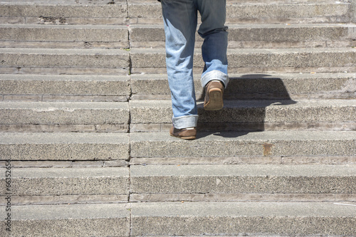 Climbing up stairs - 66352656