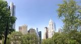 Architecture in Manhattan New York City panorama poster