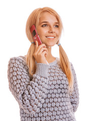 Girl talking on her cell phone and smiling