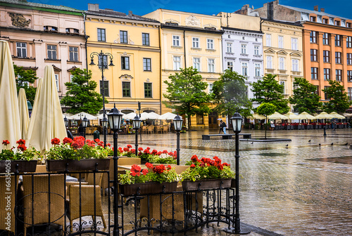Zdjęcia na płótnie, fototapety na wymiar, obrazy na ścianę : Krakow - Poland's historic center