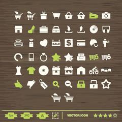 set de iconos para comercio y web