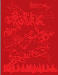 Graffiti Urban Vector Clipart Design Illustration