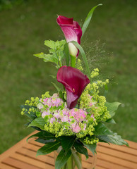 Beautiful calla lilies bouquet