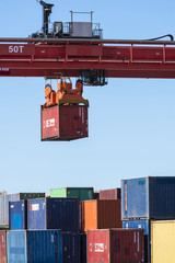 Picking-up of containers