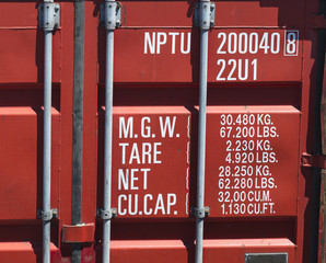 cargo container close-up