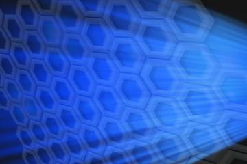 hexagonal abstract blue background