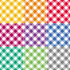 Colorful Checked Tablecloth Series Endless, Seamless Pattern