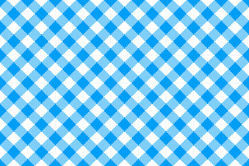 Blue and White Checked Tablecloth Endless, Seamless Pattern