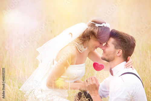 canvas print picture wedding couple