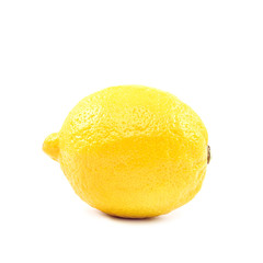 Fresh lemon, isolated on a white background.