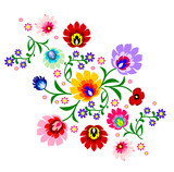 Fotoroleta Traditional Polish floral folk pattern vector