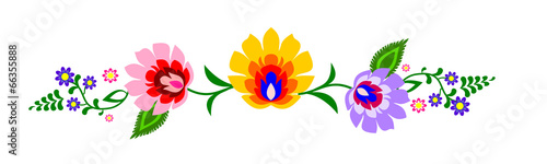 obraz PCV Tradycyjny polski ludowy wzór kwiatowy wektor