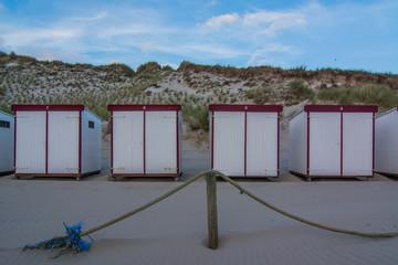 beach huts at Dutch beach