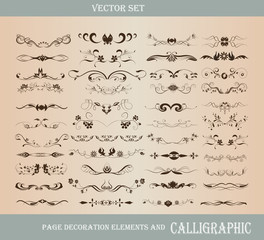 vector set: calligraphic elements