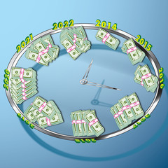 Money Clock Concept