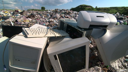 Obsolete computers at the dump