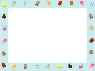 Ice candy bar frame_horisontal