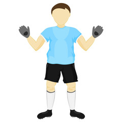 isolated blue dress goalie standing vector